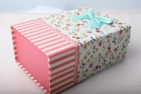 """Подарочная коробка трансформер """"Крышка на магните""""  22х15х6см (1шт)  К618  цвета и рисунки в ассортименте"""