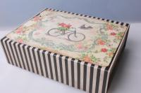 """Подарочная коробка трансформер """"Прямоугольник, велосипед"""" 28х36х11см 512115"""