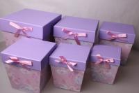 Подарочная Коробка Трапеция 18*15*h=20cм набор из 6шт.