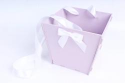 Подарочная коробка-сумка №1 МДФ, с градиентом, лаванда-белыйПУ431-02-4303