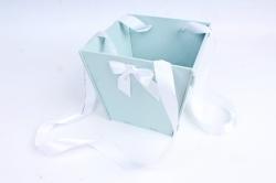 Подарочная коробка-сумка №1  МДФ, с градиентом, мурена-белыйПУ431-02-4403