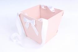 Подарочная коробка-сумка №1  МДФ, с градиентом, пудровый-белыйПУ431-02-4503