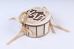 "Подарочная коробочка ""Чай"" круглая  фанера, оформл.ПУ374-00-0000"