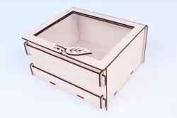 Подарочная коробочка с гнутой крышкой, с триацетатом, средняя  ПУ465-00-0000