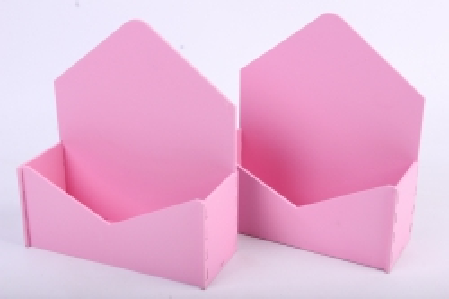 """Подарочная упаковка (2шт в уп) """"Конверт"""" с глухими стенками (18*6,6*20,5) МДФ-3мм, окраш. розовыйПУ294-02-0505"""
