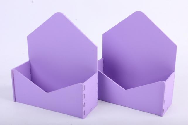 """Подарочная упаковка (2шт в уп) """"Конверт"""" с глухими стенками (18*6,6*20,5) МДФ-3мм,  окраш. сиреневыйПУ294-02-0909"""