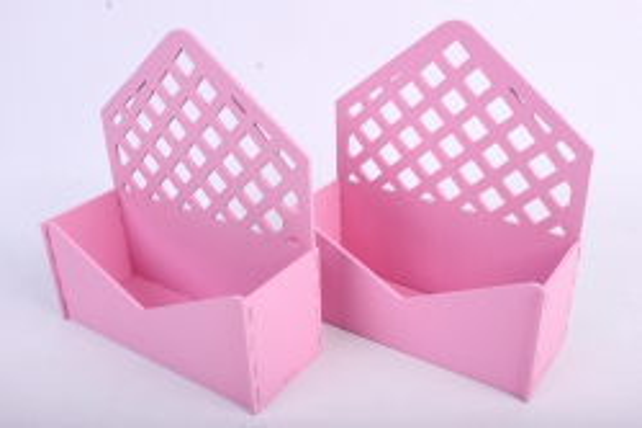 """Подарочная упаковка (2шт в уп) """"Конверт"""" с решеткой (18*6,6*20,5) МДФ-3мм,  окраш. розовыйПУ297-02-0505"""