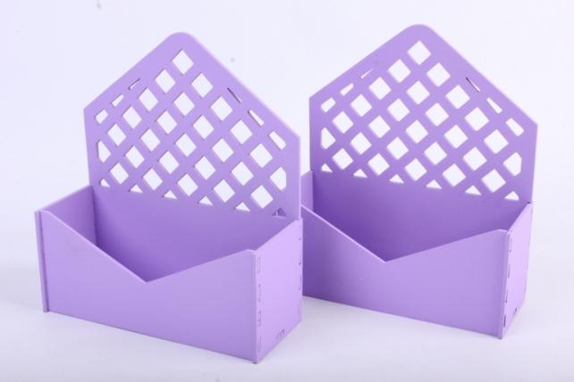 """Подарочная упаковка (2шт в уп) """"Конверт"""" с решеткой (18*6,6*20,5) МДФ-3мм,  окраш. сиреневыйПУ297-02-0909"""