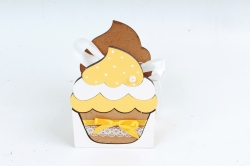 """Подарочная упаковка """"Кекс"""" малая  МДФ 3мм морилка Дуб-желтый  ПУ470-02-3716"""