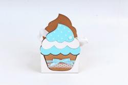 """Подарочная упаковка """"Кекс"""" малая МДФ 3мм морилка Дуб-голубой  ПУ470-02-3707"""