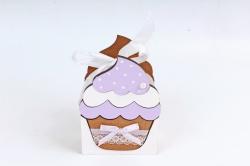 """Подарочная упаковка """"Кекс"""" малая  МДФ 3мм морилка Дуб-сиреневый  ПУ470-02-3709"""