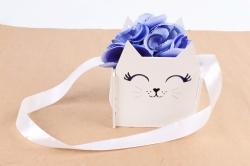 """Подарочная упаковка """"Киска""""  МДФ 3мм, окрашен.,  Белый-белый, 1 шт.ПУ523-02-0303"""