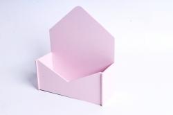 """Подарочная упаковка """"Конверт"""" с глухими стенками малый  розовыйПУ302-02-3939"""