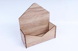 """Подарочная упаковка """"Конверт"""" с глухими стенками, малый   серыйПУ421-00-2020"""