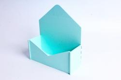 """Подарочная упаковка """"Конверт"""" с глухими стенками малый   тиффаниПУ302-02-4040"""