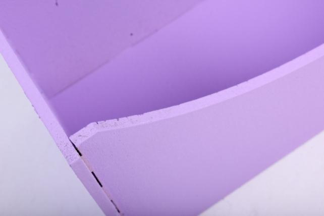 """подарочная упаковка """"конверт"""" с сердцами, округлый (18*6,6*20,5) мдф-3мм, 1 шт., окраш. сиреневыйпу300-02-0909"""