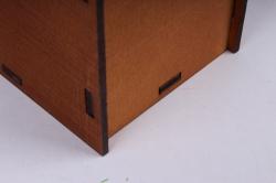 """подарочная упаковка """"конверт"""" с вензелями (18*6,6*20,5) фанера 3мм, окраш. морилкой моккопу286-02-3434м"""