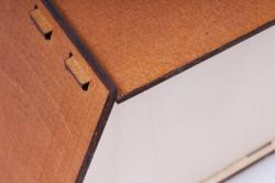 "подарочная упаковка ""корзиночка"" фанера 3мм, окраш. морилкой пу319-02-3434м"