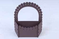 """Подарочная упаковка """"Корзиночка""""  МДФ 3мм, окраш. коричневый ПУ320-02-1717"""