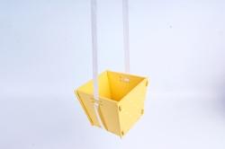 Подарочная упаковка МИНИ  МДФ , окрашен., Желтый-белый, 1 шт.ПУ494-02-1603