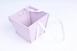 Подарочная упаковка МИНИ  МДФ , окрашен., Лаванда-белый, 1 шт.ПУ493-02-4303