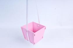Подарочная упаковка МИНИ  МДФ , окрашен., оформл., Розовый-белый, 1 шт.ПУ493-02-0503
