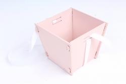 Подарочная упаковка МИНИ  МДФ , окрашен., Пудровый-белый, 1 шт.ПУ493-02-4503