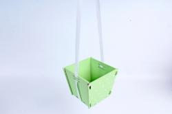 Подарочная упаковка МИНИ  МДФ , окрашен., Салатовый-белый, 1 шт.ПУ494-02-1303