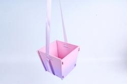 Подарочная упаковка МИНИ с градиентом  МДФ , окрашен., Розовый-сиреневый ПУ493-02-0509