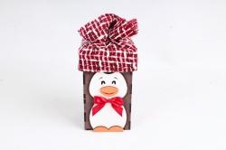 """Подарочная упаковка """"Пингвин"""" средний морилка Эбеновое дерево-красный ПУ564-02-4806"""