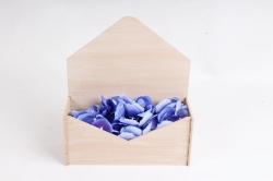 Подарочная упаковка-конверт малый эффект старины, Бежевый-белый ПУ508-02-2803Ст