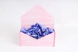 Подарочная упаковка-конверт малый  эффект старины, Розовый-белый ПУ508-02-0503Ст