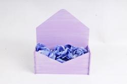 Подарочная упаковка-конверт малый эффект старины, Сиренево-белый ПУ508-02-0903Ст