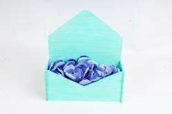Подарочная упаковка-конверт малый  эффект старины, Тиффани-белый ПУ508-02-2603Ст