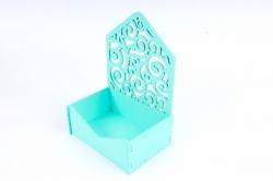 Подарочная упаковка-конверт МИНИ с вензелями  МДФ , Тиффани ПУ427-02-2626