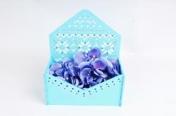 """Подарочная упаковка-конверт """"Норвежский""""  Голубой ПУ554-02-0700"""