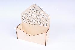 Подарочная упаковка-конверт с цветами  Фанера 3мм, неокраш. ПУ291-00-0000