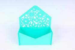 Подарочная упаковка-конверт с цветами  МДФ 3мм, окрашен., Тиффани, ПУ307-02-2626