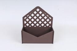 Подарочная упаковка-конверт с решеткой   МДФ 3мм, окрашен., Коричневый, ПУ305-02-1717