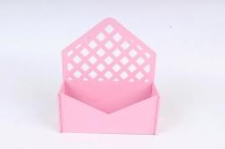 Подарочная упаковка-конверт с решеткой МДФ 3мм, окрашен., Розовый, ПУ305-02-0505