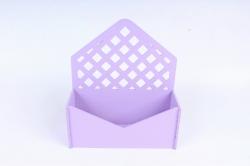 Подарочная упаковка-конверт с решеткой  МДФ 3мм, окрашен., Сиреневый, ПУ305-02-0909