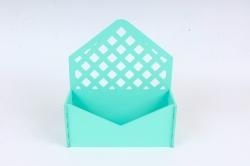 Подарочная упаковка-конверт с решеткой   МДФ 3мм, окрашен., Тиффани, ПУ305-02-2626