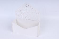 Подарочная упаковка-конверт с вензелями  МДФ 3мм,  Белый ПУ303-02-0303