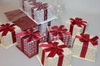Подарочные коробки - Ассорти Куб 7,5х7,5х5,5см SY454 (Цена за шт, в упаковке 12)