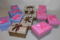 Подарочные коробки - Ассорти Прямоугольник с бантом  12,5х9х6,5см SY451 (Цена за шт, в упаковке 12)