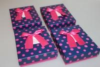 Подарочные коробки - Ассорти Прямоугольник с бантом 14,5х11,5х4см CF-0024-1 (Цена за шт, в упаковке 4)