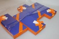 Подарочные коробки - Ассорти Прямоугольник с бантом 23х10х3,5см CF-0028-1 (Цена за шт, в упаковке 4)