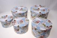 Подарочные коробки - Коробка набор цилиндр низкий (d=20, h=11) Ц-09 (5 шт.)