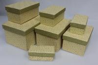 Подарочные коробки - Коробка набор из 7 шт.  Прямоугольник Золотой 14х19,5х10,5см. SD3038G