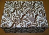 Подарочные Коробки (набор из 10 шт) Прямоугольник 37х29х16 см SY605 - Мятое серебро